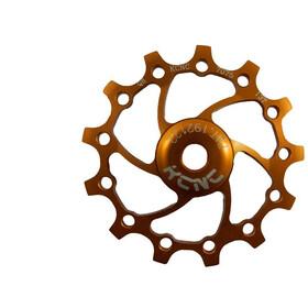 KCNC Jockey Wheel 14T Narrow Wide SS Bearing Long Teeth, gold